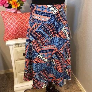 LuLaRoe Azure Midi Flare Skirt - XS